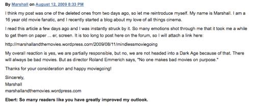 Roger Ebert's Comment!