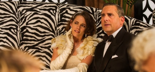 Kristen Stewart and Steve Carell in Cafe Society