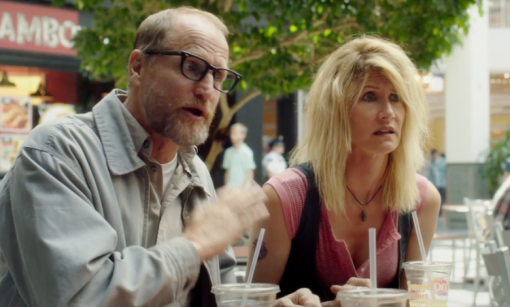 Woody Harrelson and Laura Dern in Wilson
